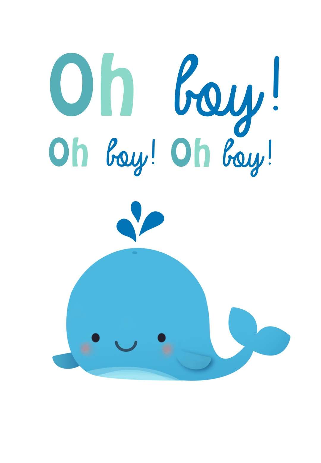 Oh Boy - Baby Shower & New Baby Card | Greetings Island - Free Printable Baby Cards