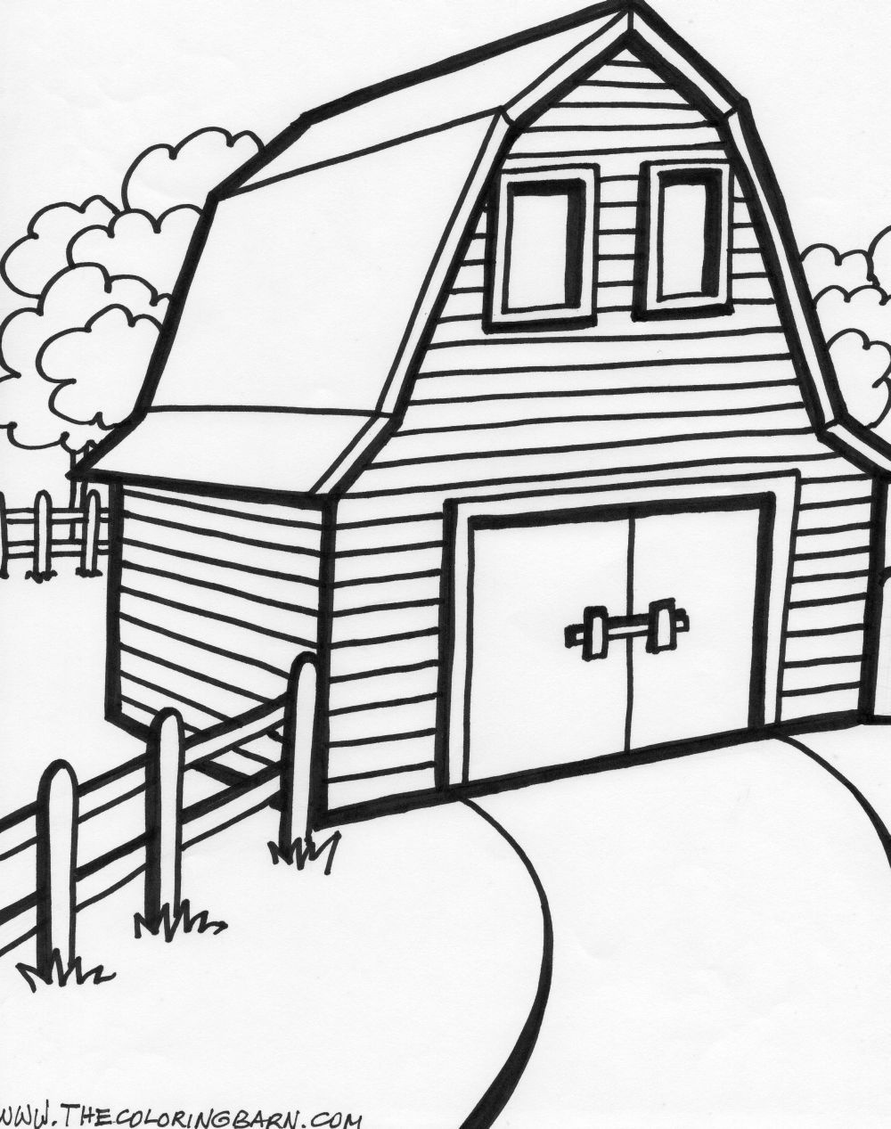 Old Macdonald's Barn | Party Ideas | Farm Animal Coloring Pages - Free Printable Barn Coloring Pages