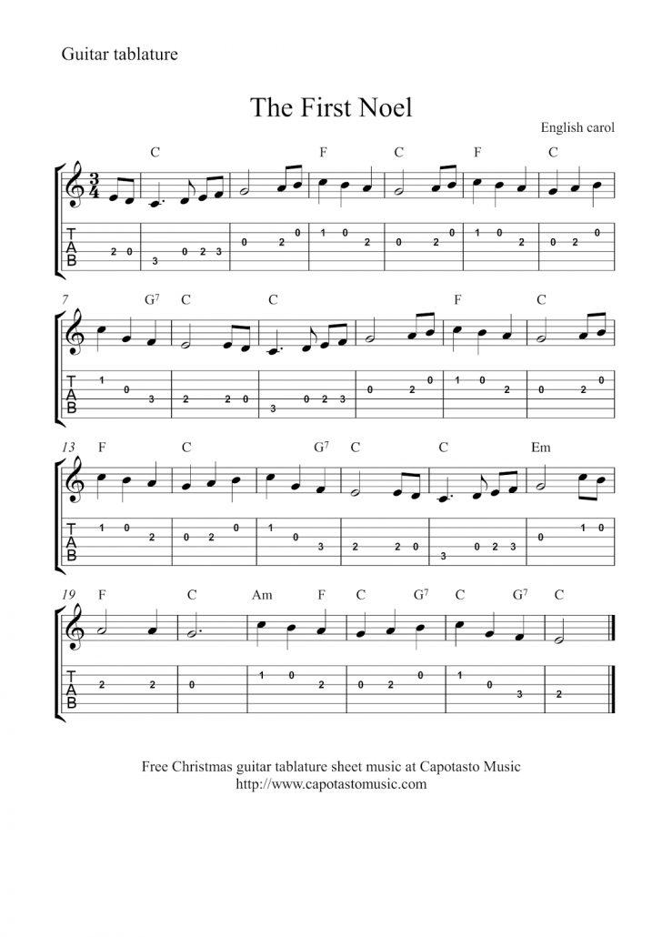 Free Printable Guitar Music