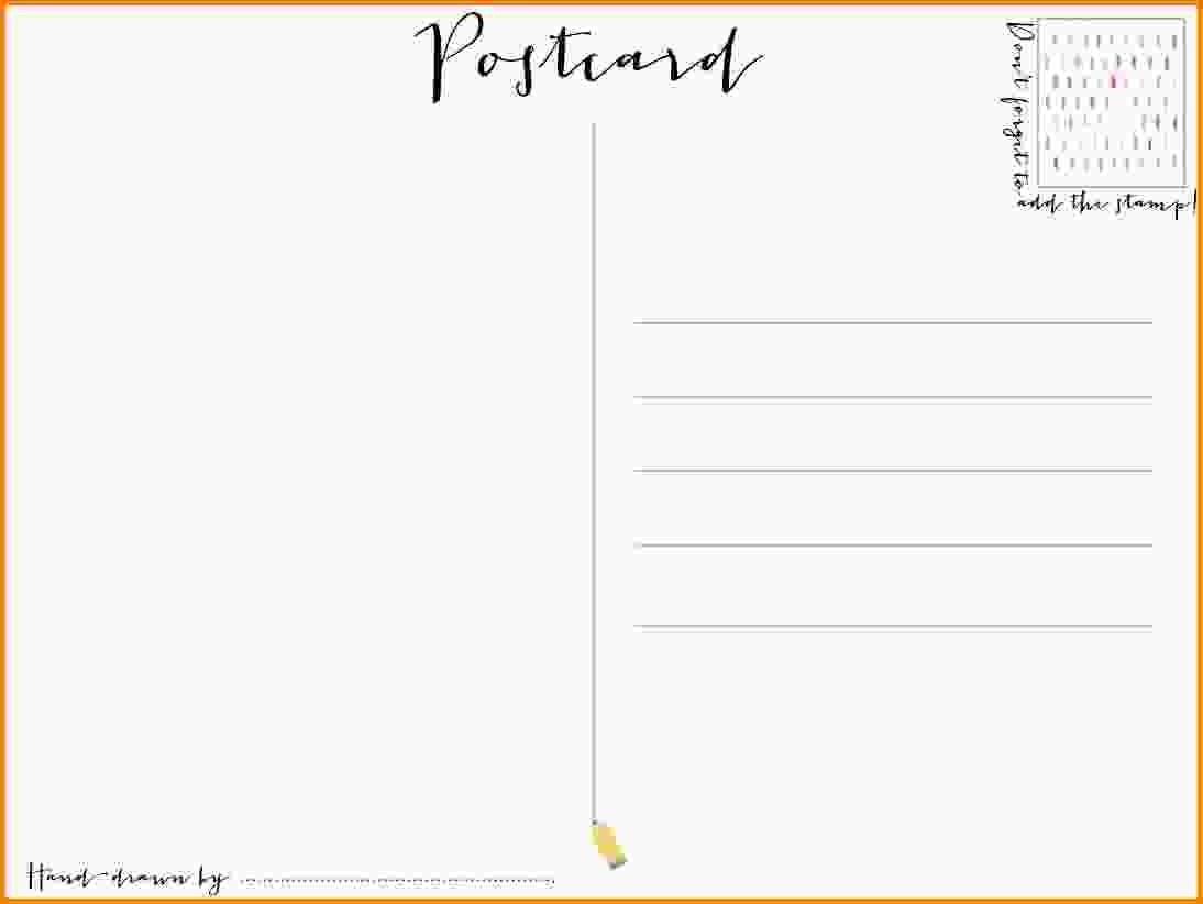 Outstanding Free Printable Postcard Template Ideas 4X6 Thank You - Free Blank Printable Postcards