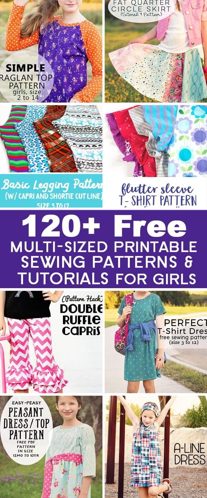 Over 120 Free Printable Sewing Patterns And Tutorials For Girls - Free Printable Sewing Patterns For Kids
