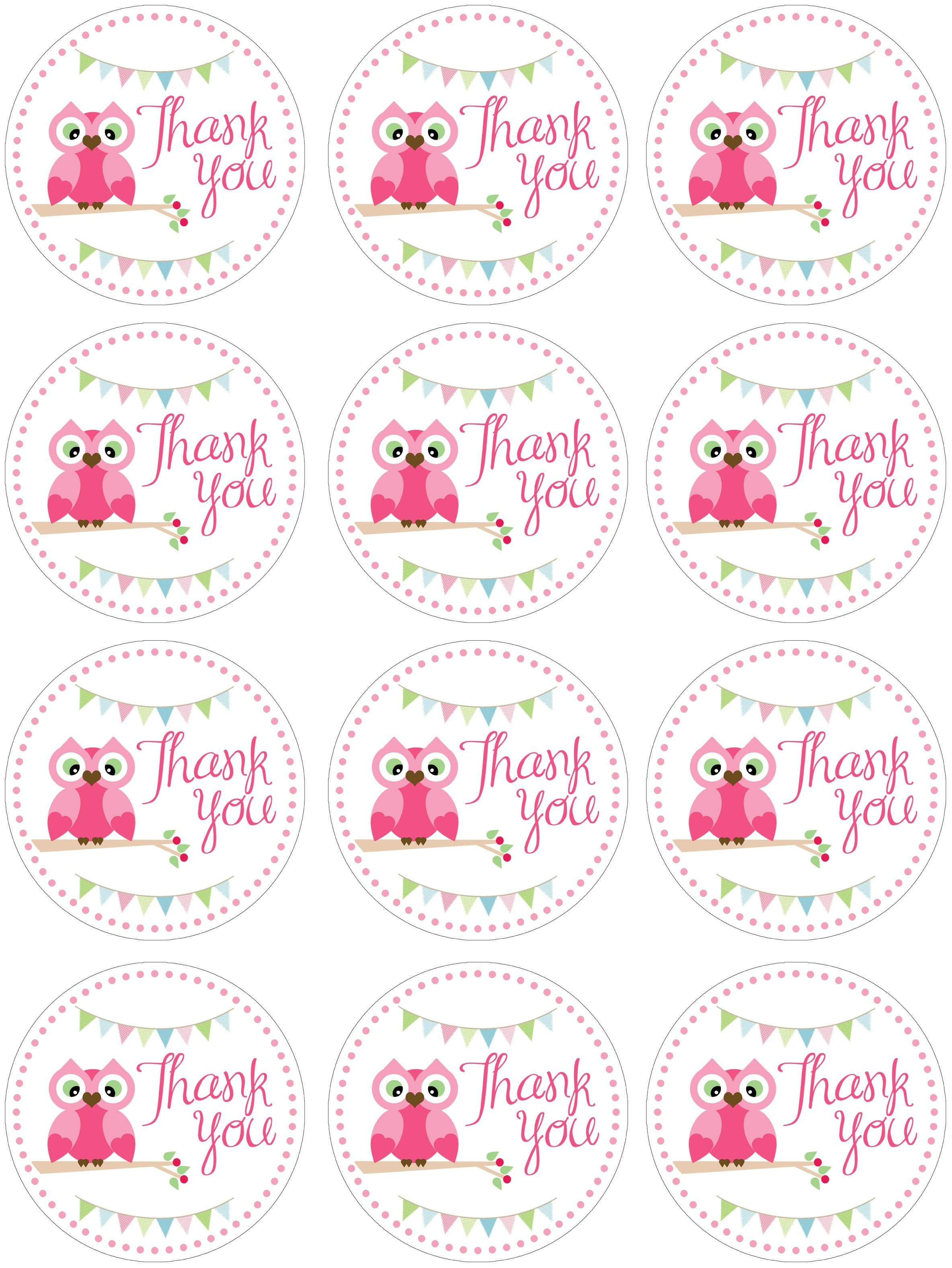 Owl Birthday Party With Free Printables | Cabochon | Pinterest - Free Printable Thank You Tags For Birthday Favors