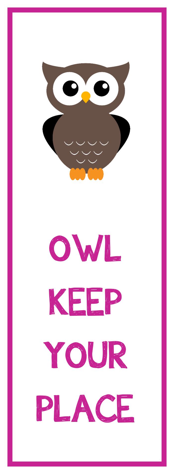 Owl Bookmark Printable - Free Printable Owl Bookmarks