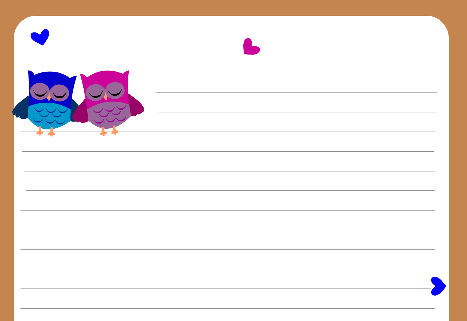 Owl Writing Paper - Free Printable Stationery Writing Paper