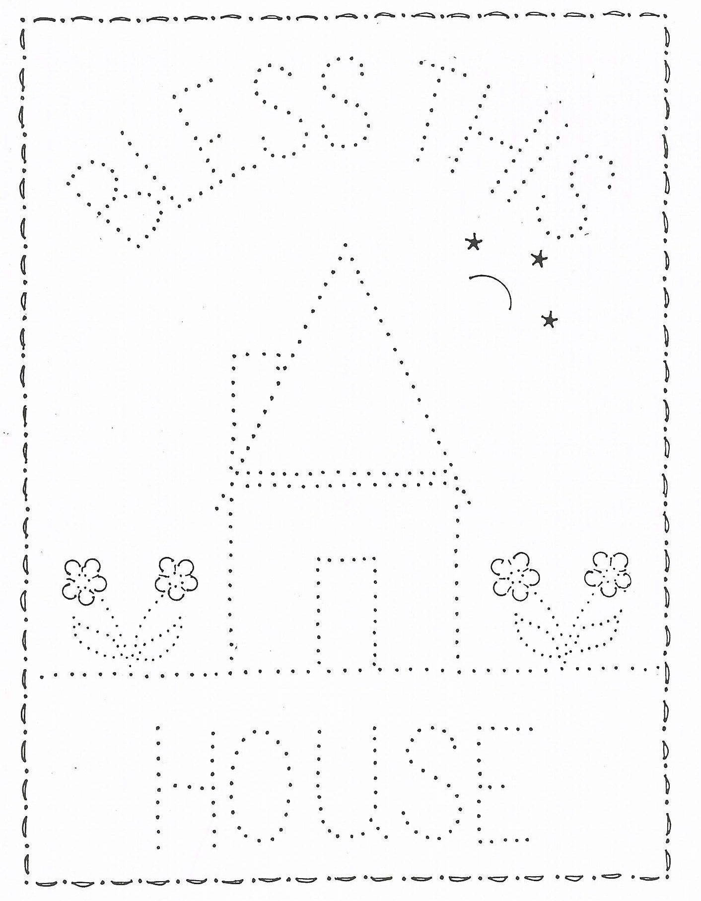 P 1207 Bless This House 11X14 | Tin Punching/embossing | Punched Tin - Printable Tin Punch Patterns Free