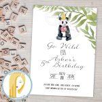Panda Bear Birthday Party Invitation Zoo Animal Invitation | Etsy   Panda Bear Invitations Free Printable