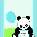 Panda Birthday Card Template | Birthdaybuzz   Panda Bear Invitations   Panda Bear Invitations Free Printable