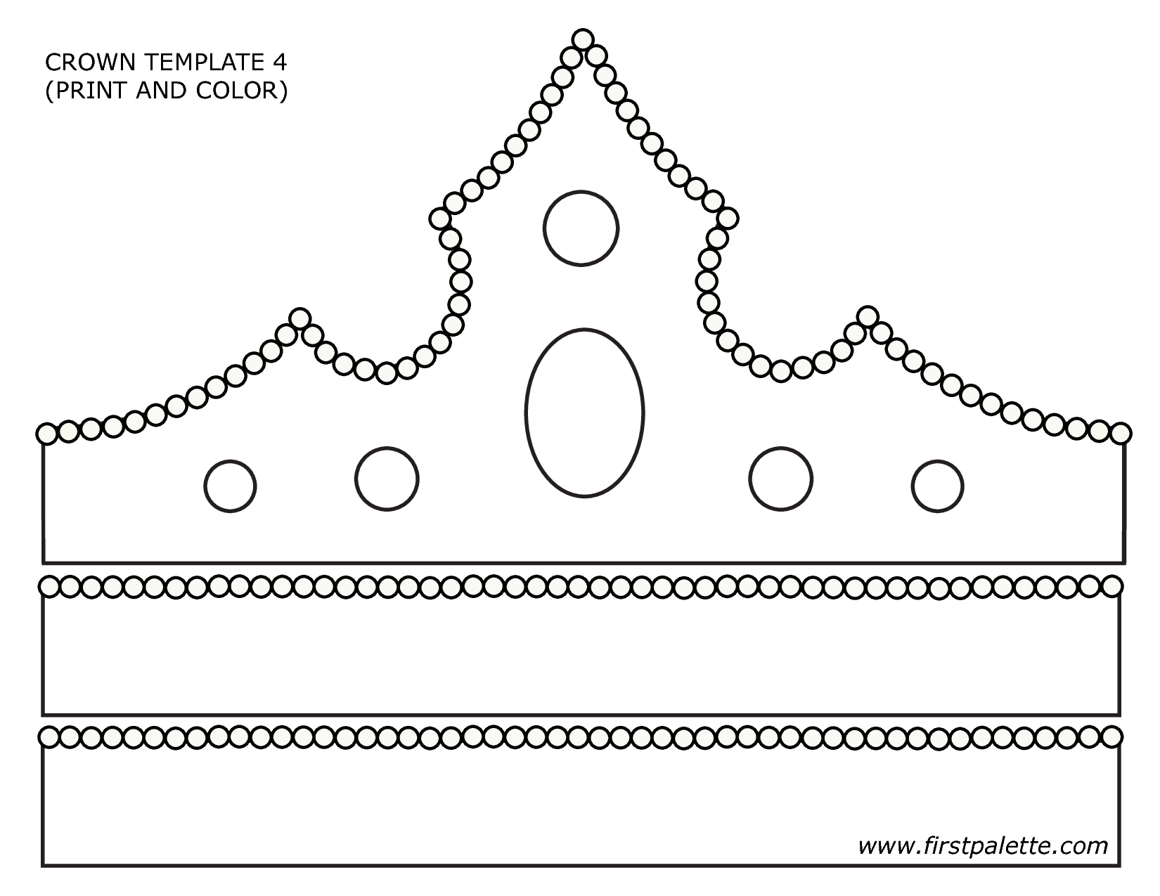Paper Crown Template - Google Search | Primary | Crown Template - Free Printable King Crown Template