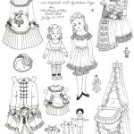 Paper Dress Up Dolls Template Best Of Victorian Paper Dolls   Free Printable Paper Dolls