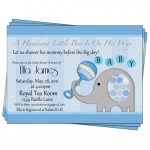 Party Invitation,baby Boy Shower Invitation Elephant Printable   Free Printable Elephant Baby Shower Invitations