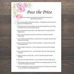 Pass The Prize Baby Shower Games Girl Baby Shower Rhyme | Etsy   Pass The Prize Baby Shower Game Free Printable