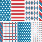 Patriotic 4Th Of July Digital Papers   Love Paper Crafts   Free Printable Patriotic Scrapbook Paper