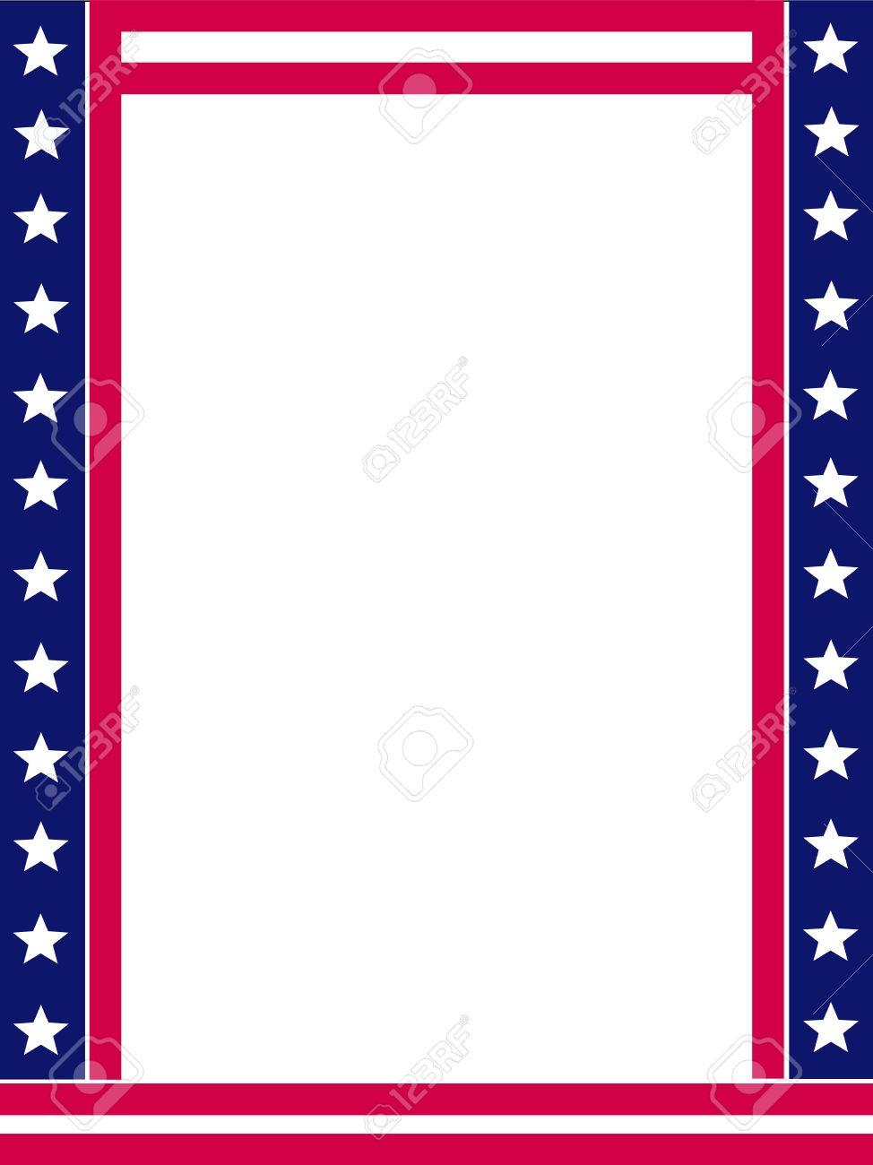 Patriotic Page Borders | Free Download Best Patriotic Page Borders - Free Printable 4Th Of July Stationery