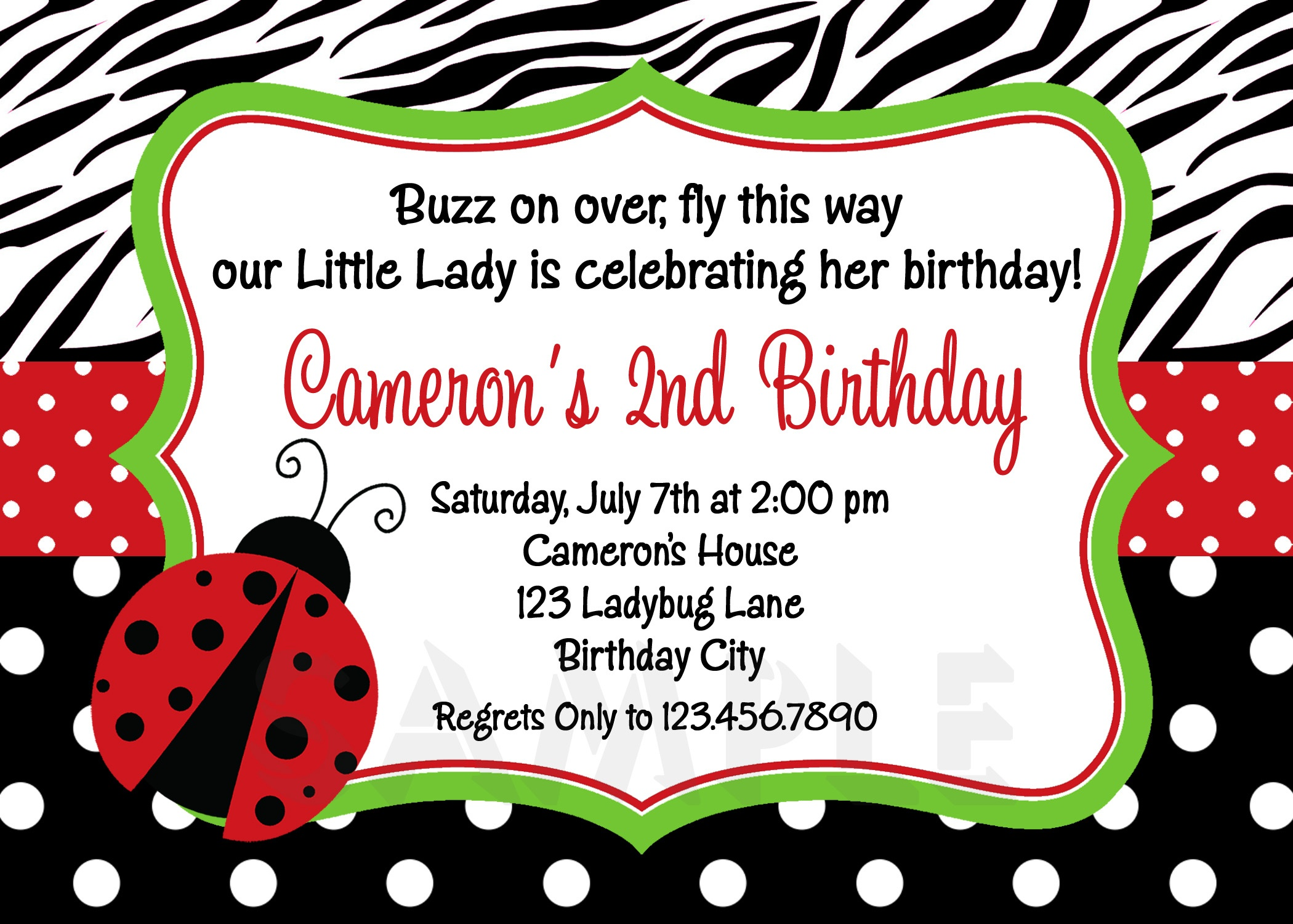 Photo : Free Ladybug Baby Shower Image - Free Printable Ladybug Invitations