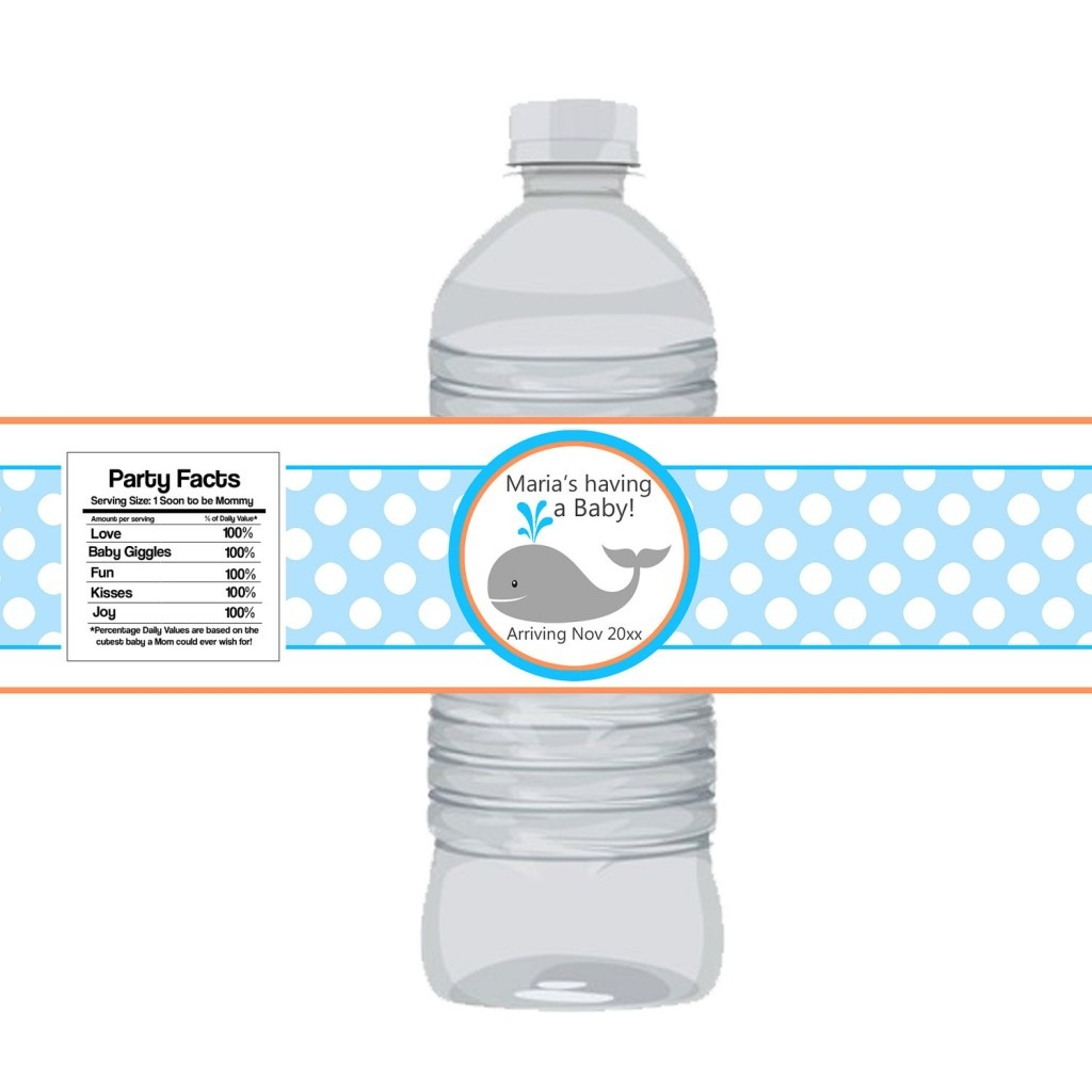 Photo : How To Make Baby Image - Free Printable Water Bottle Labels For Baby Shower