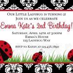 Photo : Printable Birthday Invitations Ladybug Image   Free Printable Ladybug Baby Shower Invitations Templates