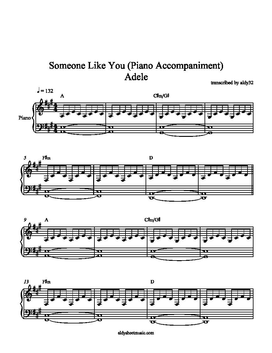Piano Sheet Music Someone Like You - Google Search | Music In 2019 - Free Printable Sheet Music Adele Someone Like You