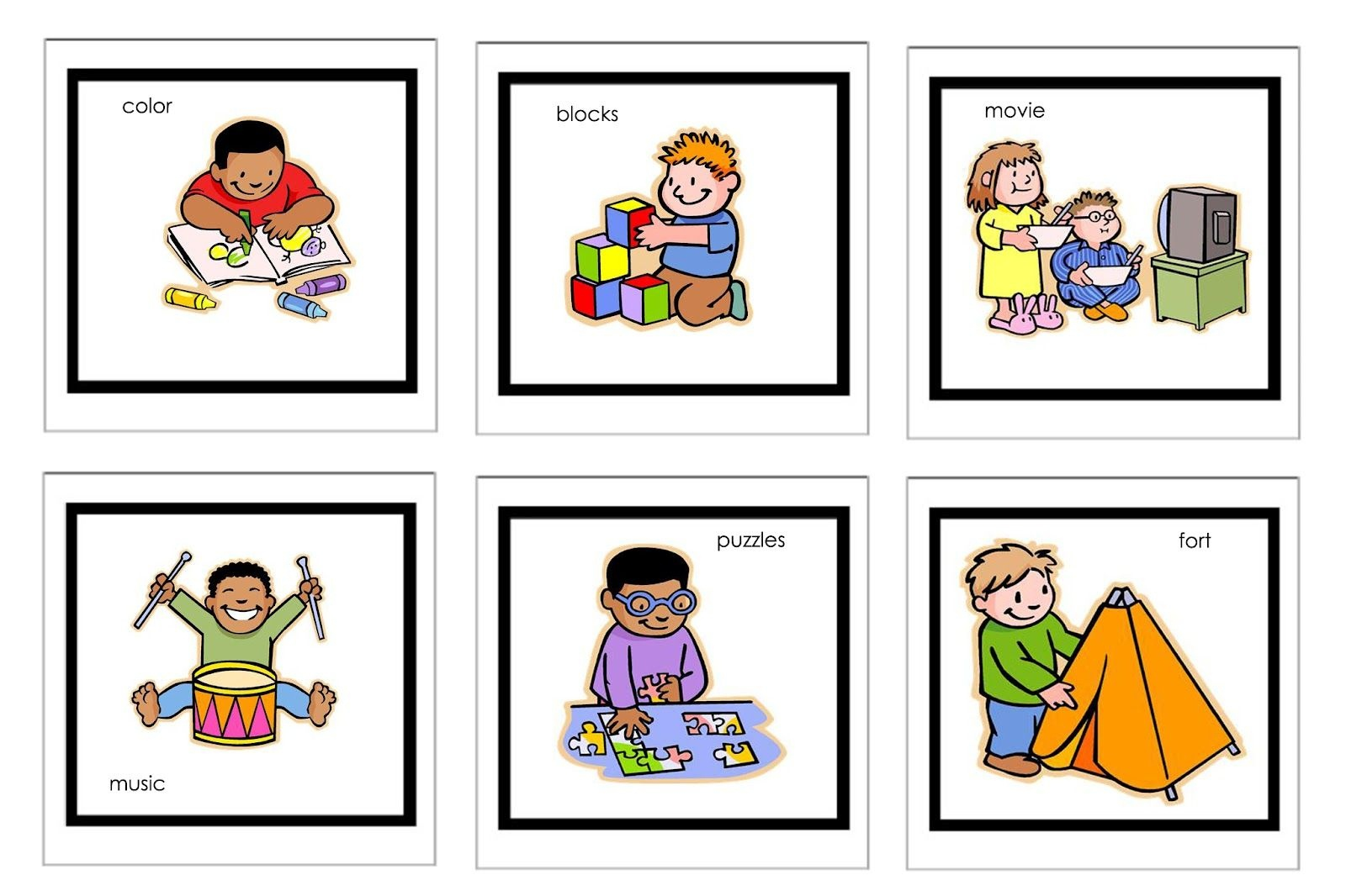 Picture Cards For Nonverbal Children | Free Printable Visual - Free Printable Picture Schedule For Preschool