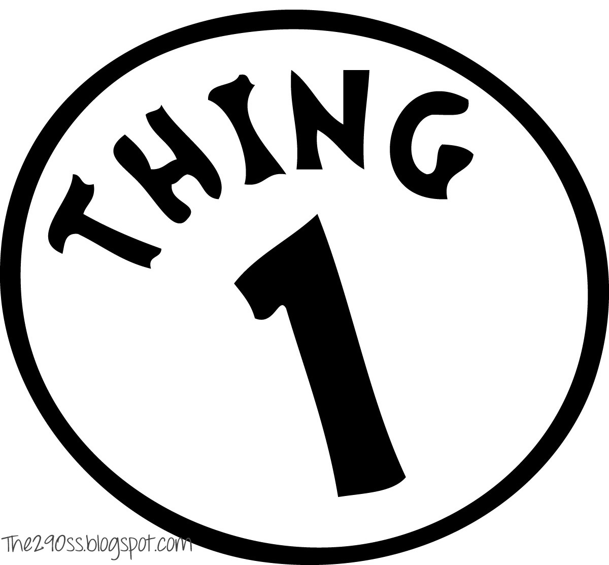 Pictures Of Thing 1 And Thing 2 | Free Download Best Pictures Of - Thing 1 And Thing 2 Free Printable Template