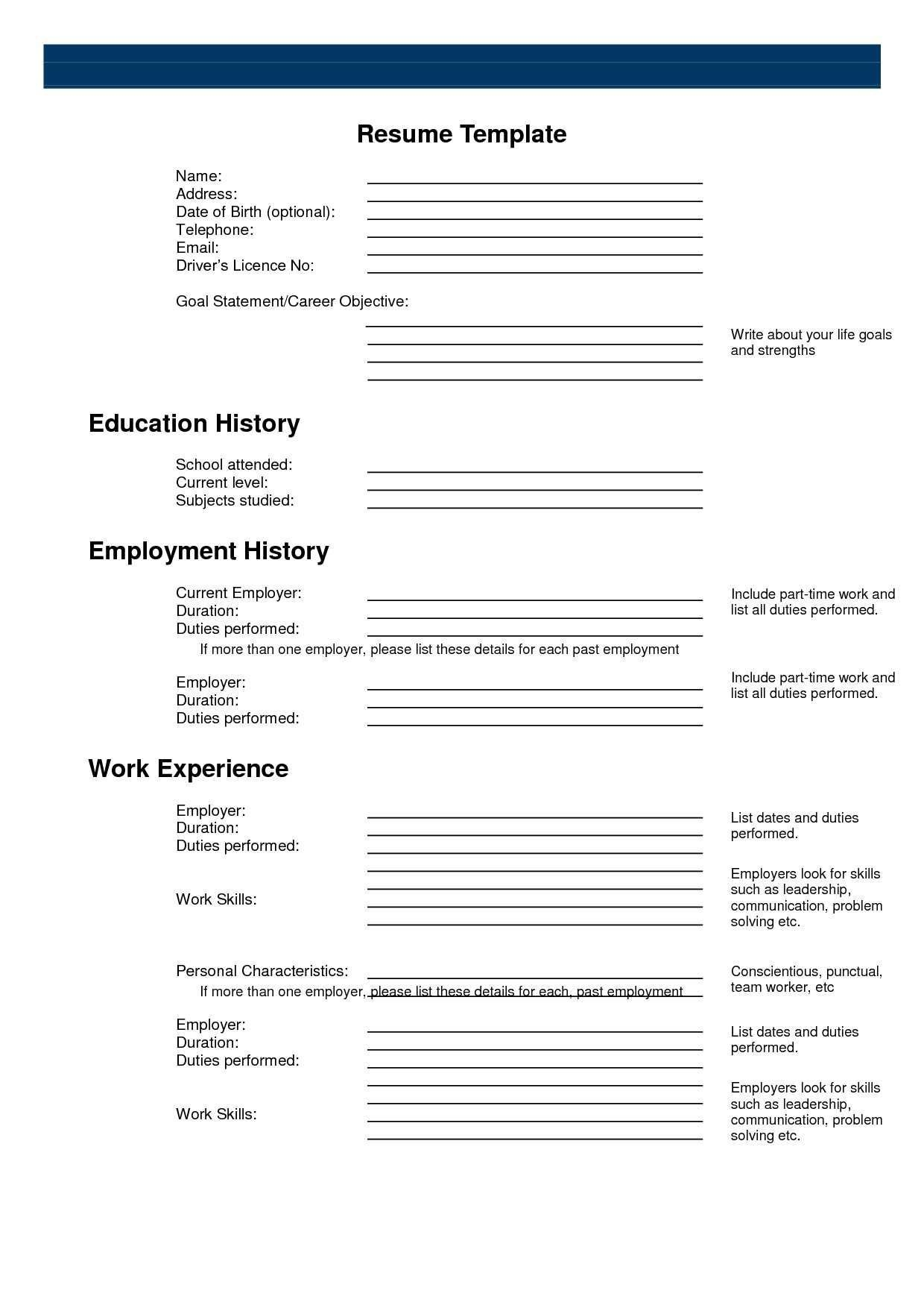 Pinanishfeds On Resumes | Free Printable Resume, Free Printable - Free Online Resume Templates Printable