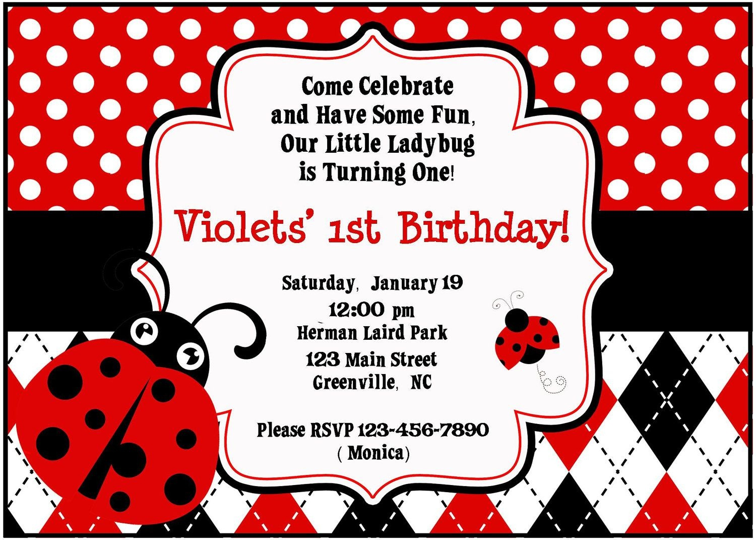 Pincheryl Forcucci Roncone On Mickey Mouse   Free Party - Free Printable Ladybug Baby Shower Invitations Templates