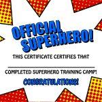 Pincrafty Annabelle On Super Heros Printables | Superhero Party   Free Printable Superhero Certificates