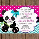Pindalila Medina Rangel On Isa's Birthday | Boy Birthday   Panda Bear Invitations Free Printable