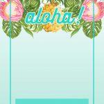 Pineapple Luau Perimeter   Free Printable Birthday Invitation   Hawaiian Party Invitations Free Printable