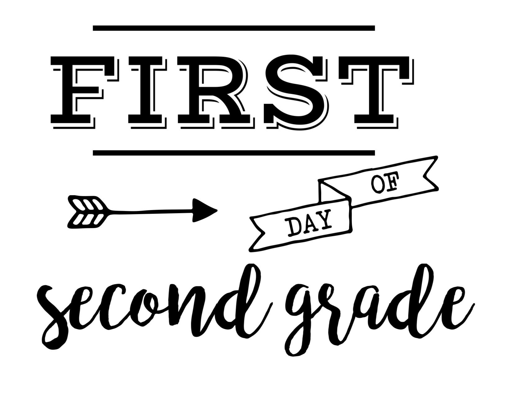 Pingeorgianna Wiley On Kid Ideas | Last Day Of School, School - First Day Of Second Grade Free Printable Sign