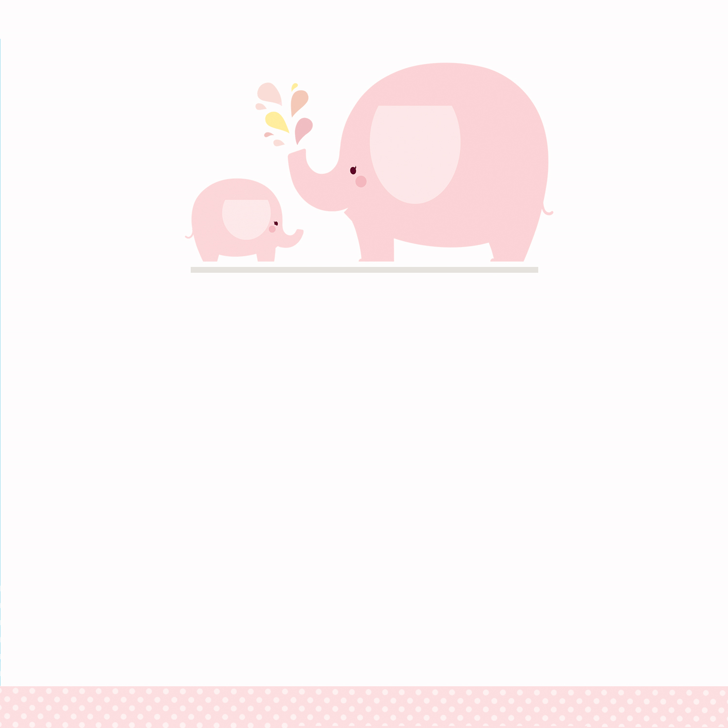 Pink Baby Elephant - Free Printable Baby Shower Invitation Template - Free Printable Baby Shower Label Templates