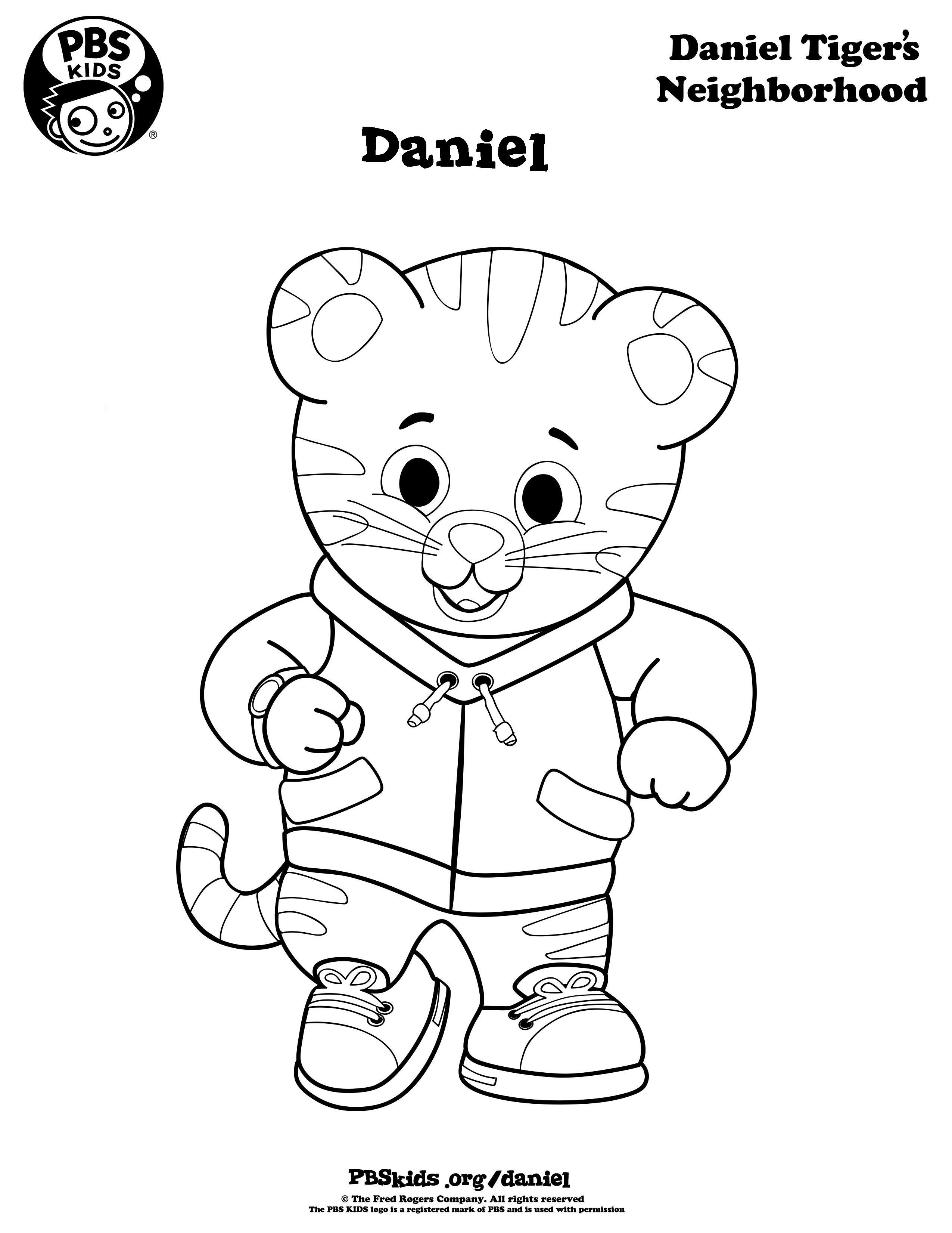 Pinkristen Miller On Noah's 1St Birthday | Daniel Tiger Party - Free Printable Daniel Tiger Coloring Pages
