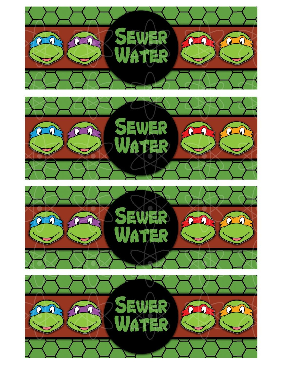 Pinkristie Depew On Kole's Birthday | Ninja Birthday Parties - Free Printable Tmnt Food Labels