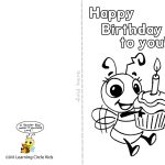 Pinreader Bee On Birthday Celebration   Bee Style | Free   Free Printable Birthday Cards To Color