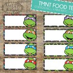 Pinterest   Free Printable Tmnt Food Labels
