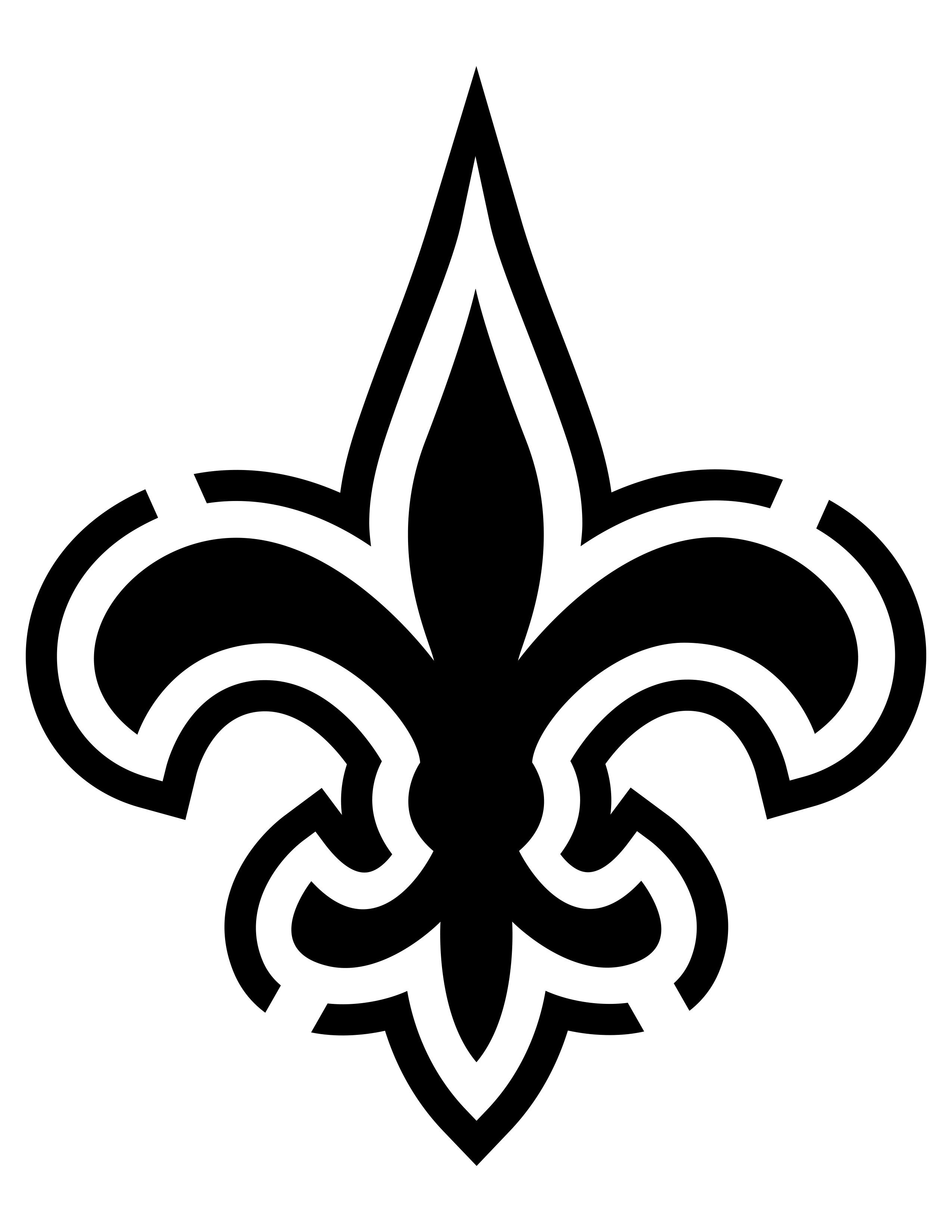 Pinthe Merlins On Cricut Files | New Orleans Saints Logo, New - Printable Nfl Pumpkin Carving Patterns Free