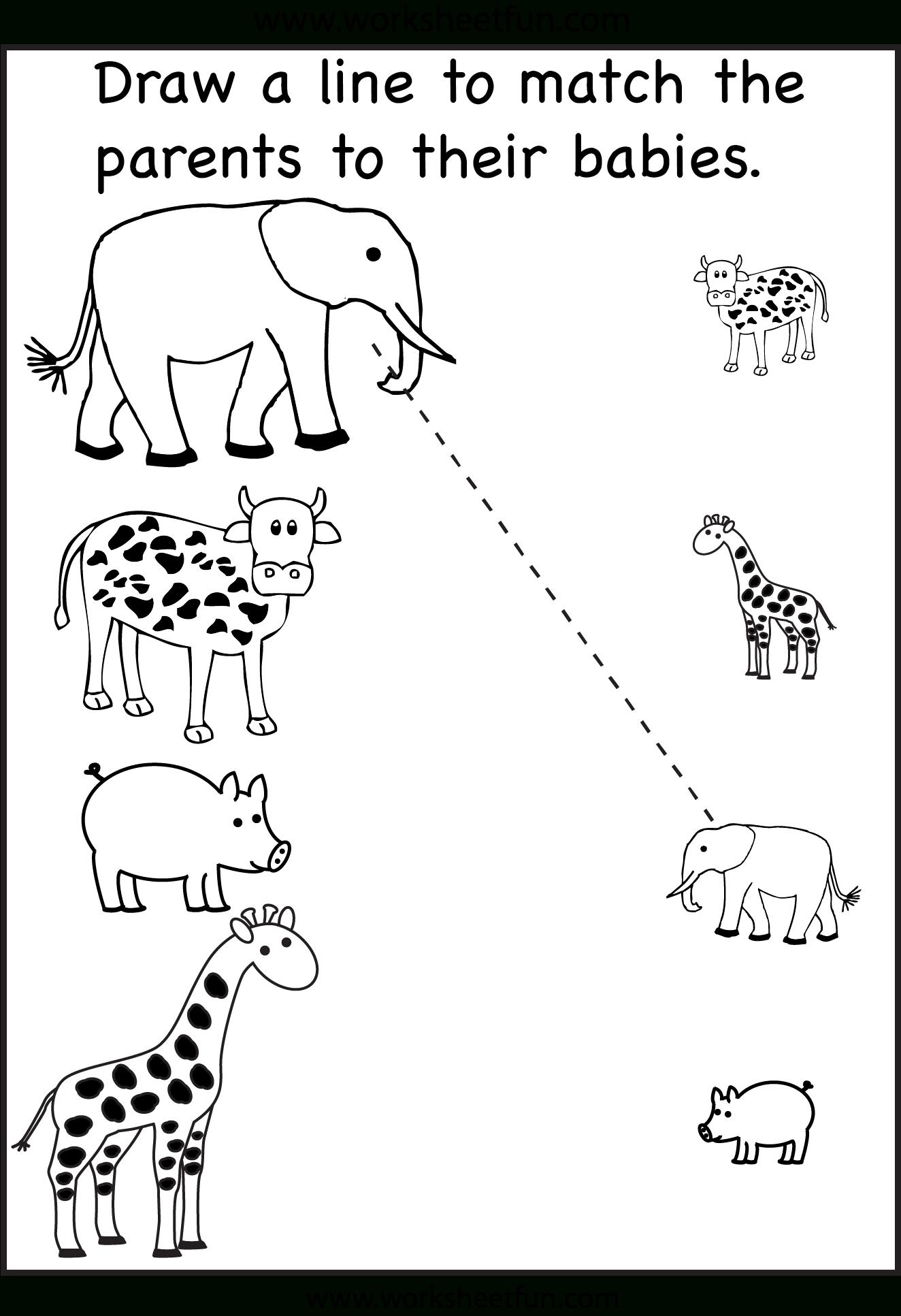 Pinzhenya Ilushevitch On Animals | Preschool Worksheets, Toddler - Free Printable Worksheets For 3 Year Olds