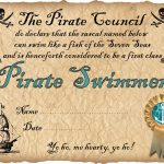 Pirate Swimmer Certificate | Rooftop Post Printables   Free Printable Swimming Certificates For Kids