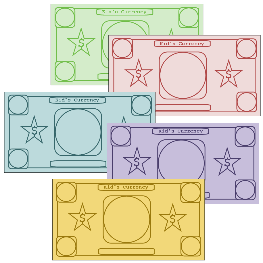 Play Money To Customize I'm Going To Use These To Insert Site Words - Free Printable Play Money Sheets