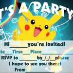 Pokemon Birthday Invitation Templates Free | Pokemon Birthday In   Pokemon Invitations Printable Free