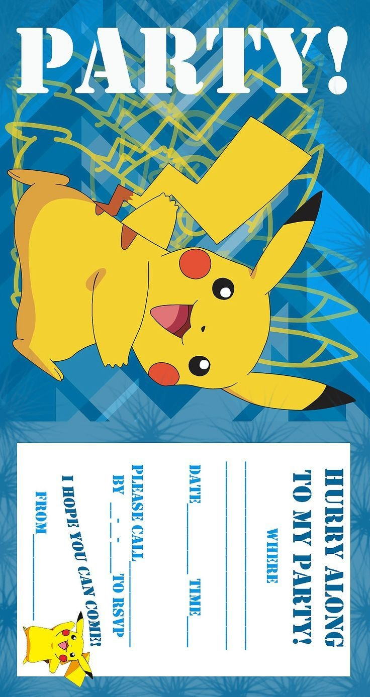 Pokemon Birthday Invitations Free Printable | Birthday Ideas In 2019 - Pokemon Invitations Printable Free