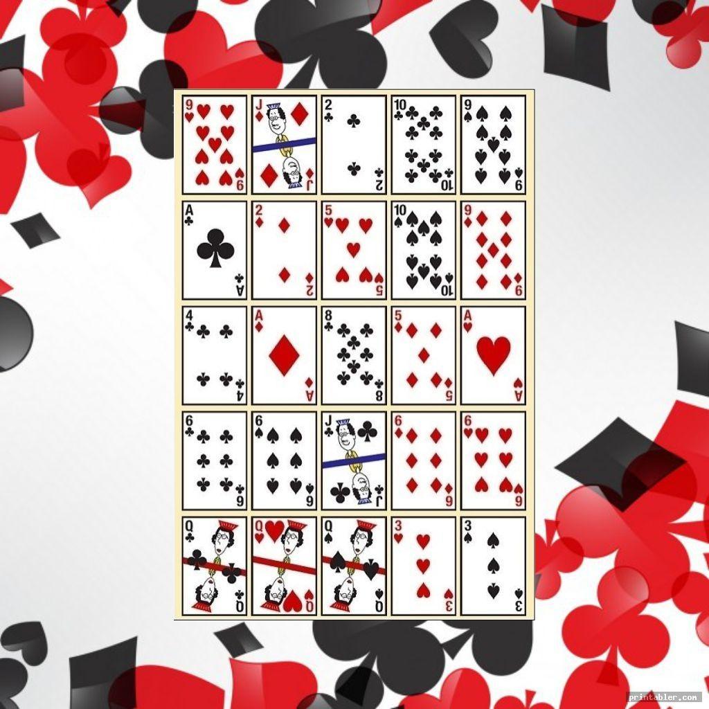 Pokeno Cards Printable - Masterprintable - Free Printable Pokeno Game Cards