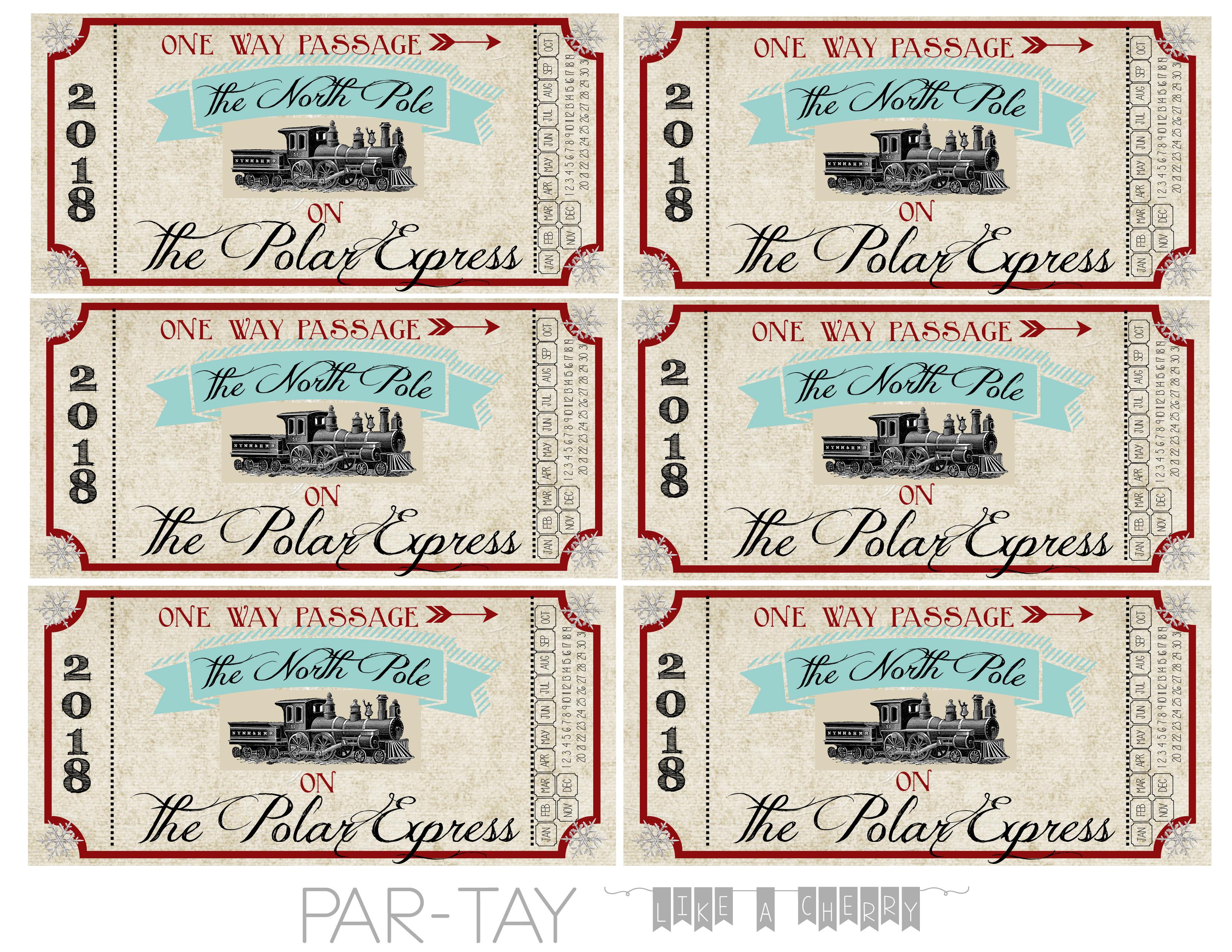 Polar Express Train Tickets Free Printable - Party Like A Cherry - Free Polar Express Printable Tickets
