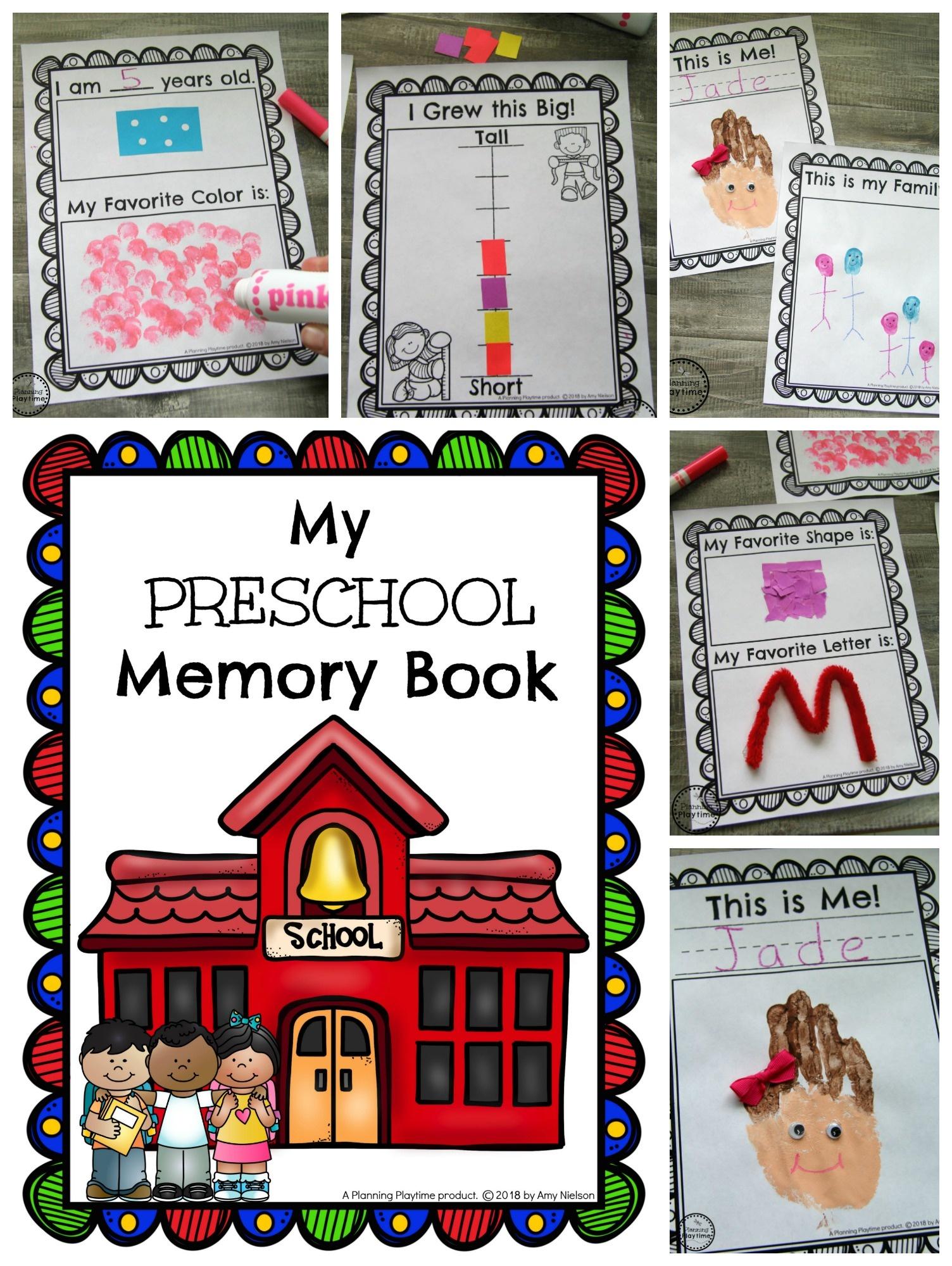 Preschool Memory Book - Planning Playtime - Free Printable Preschool Memory Book