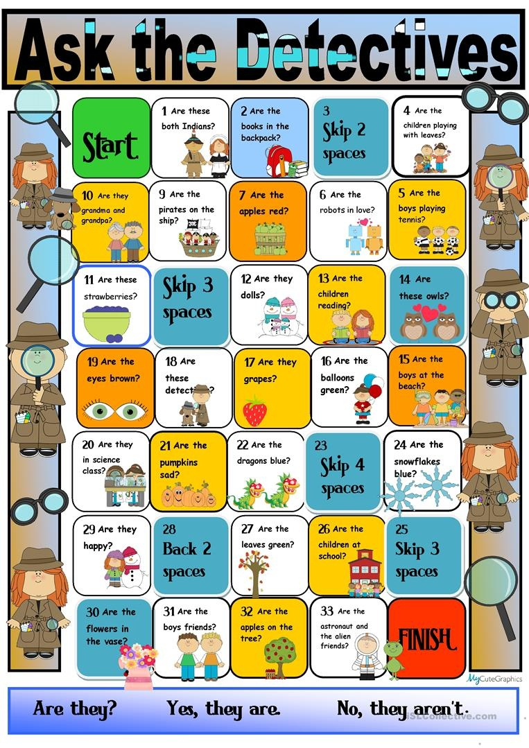 Present Simple Boardgame Worksheet - Free Esl Printable Worksheets - Free Printable Detective Games