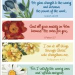Pretty Printable Scripture Bookmarks   Flanders Family Homelife   Free Printable Bookmarks With Bible Verses