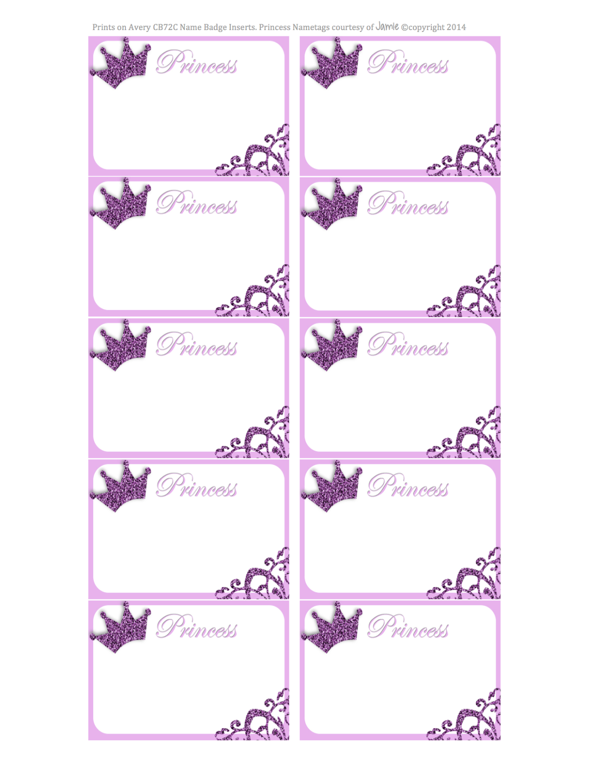 Princess Labels - Free Printable | Kids | Printable Labels - Hello Kitty Name Tags Printable Free