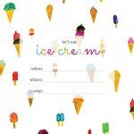 Print | Printables | Ice Cream Party, Ice Cream Invitation, Ice Cream   Ice Cream Party Invitations Printable Free