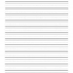 Print Sheets Two Lines | First Grade Writing Paper Printable   Elementary Lined Paper Printable Free