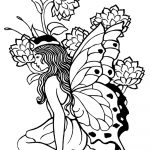 Printable Adult Coloring Pages Fairy   Coloring Home   Free Printable Coloring Pages For Adults Dark Fairies