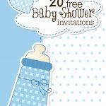 Printable Baby Shower Invitations   Free Printable Baby Shower Invitations